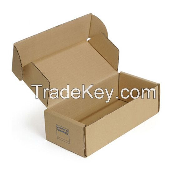 Brown kraft corrugated foldable mailing box with logo