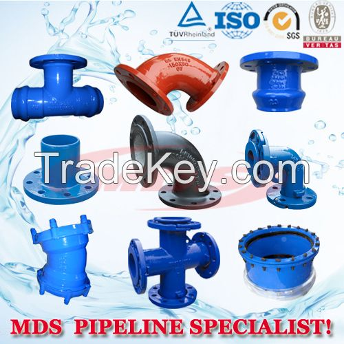 ductile iron pipe fittings, DI pipe fitting