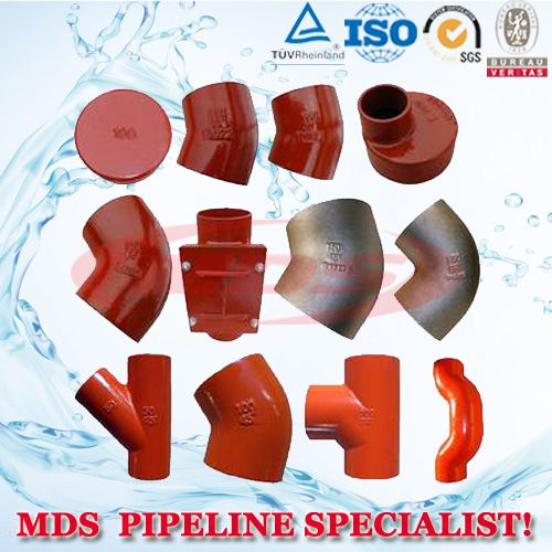 DIN/EN877cast iron pipe fittings for dirty water