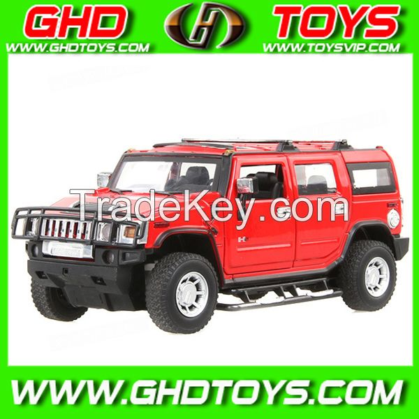 latest MZ 1:32 authorization alloy Hummer H2 licensed die-cast toy cars with lights and music