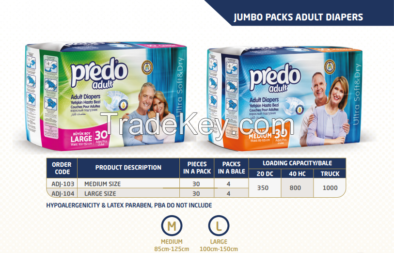 PREDO ADULT DIAPERS