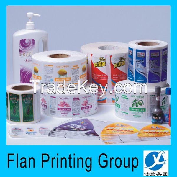 Wholesale custom waterproof label/sticker