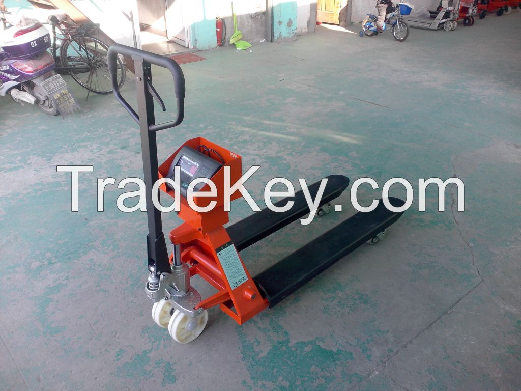 2000kg Manual Pallet Jack  Hand Hydraulic Pallet Truck With Scales