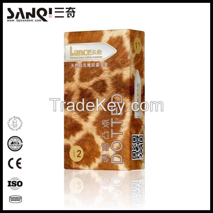 Natural latex sex condom China supplier
