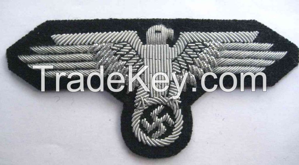 German SS Officers sleeve eagle Hand Embroidery Badge