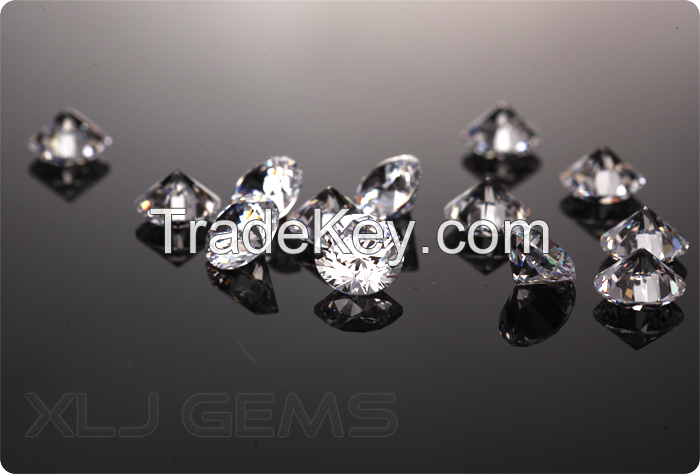 1.5mm Round Shape White Color Loose Cubic Zirconia Manufacturer