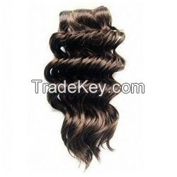 Non-Remy single drawn wavy machine weft hair