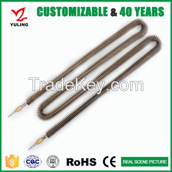 440v stainless steel finned tubular heating element for industrial heater