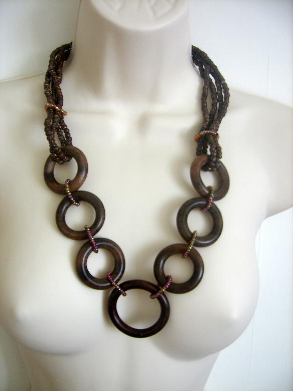 Philippine Wooden beads Necklace shells paua abalone paypal accepted