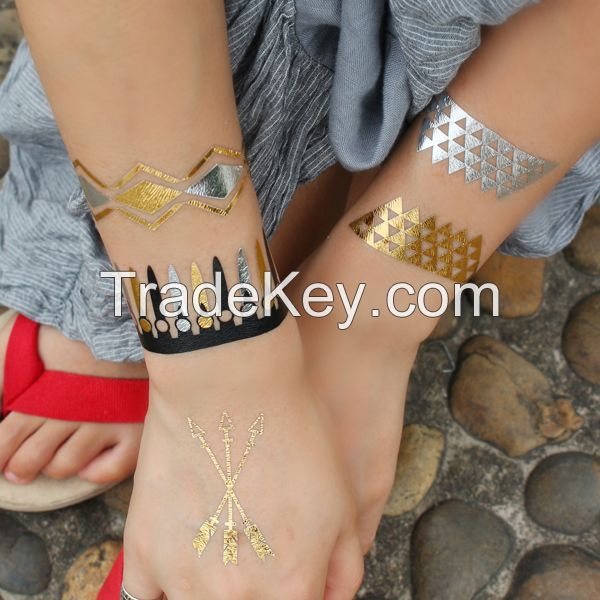 High Quality Waterproof Wrist Tattoo/Gold Foil Tattoo