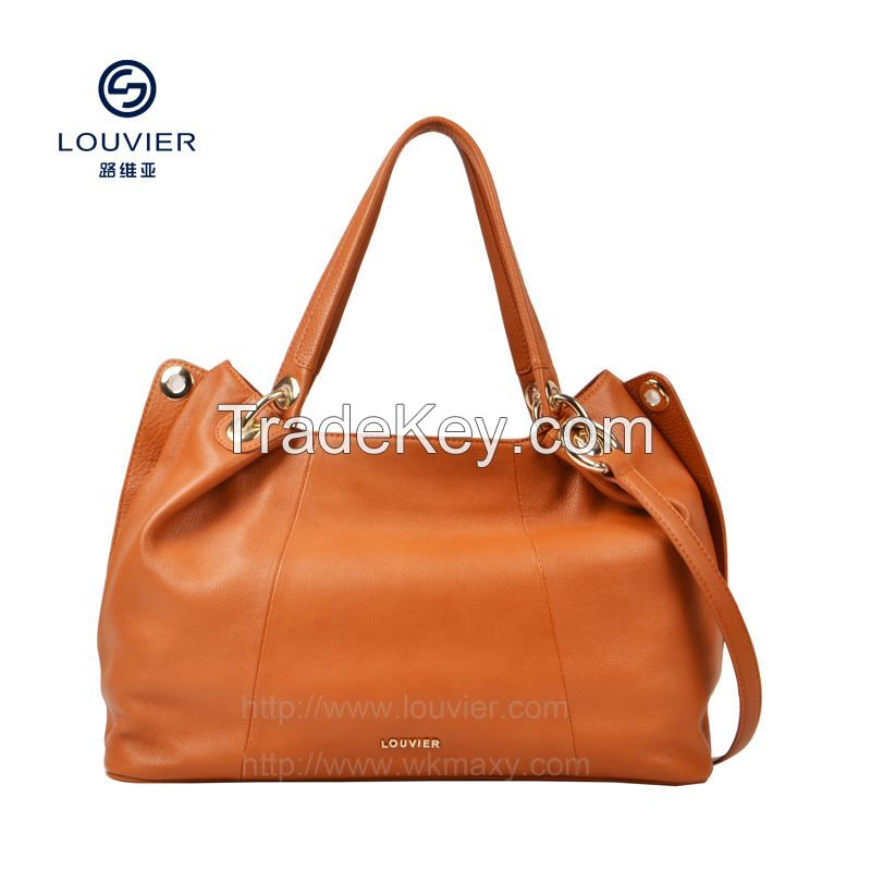 2014 fashion genuine leather handbags tote genuine leather handbags high quality cow leather from italy first layer