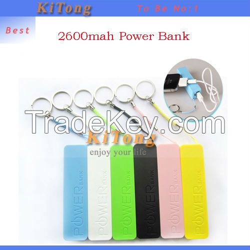 2015 perfume Power Bank 2600mAh USB External Backup Battery for iPhone Powerbank Mobile Power with Battery