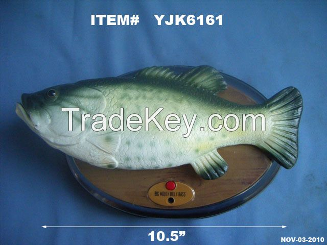 Big Mouth Billy Bass Wall Mounted Motion Activated Animated Singing Fish Novelty