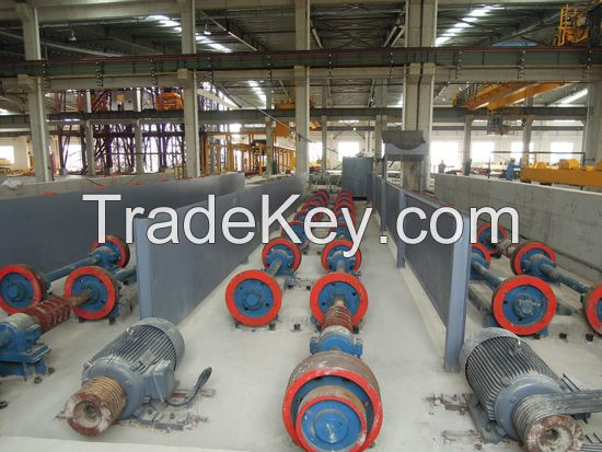 high efficiency prestressed concrete pole machine
