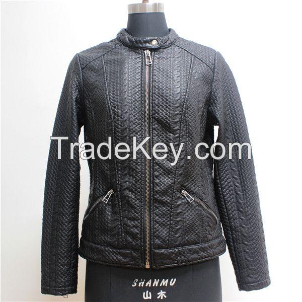 New Fashion Women's pu Jacket