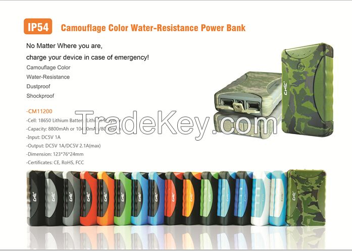 water resistant power bank