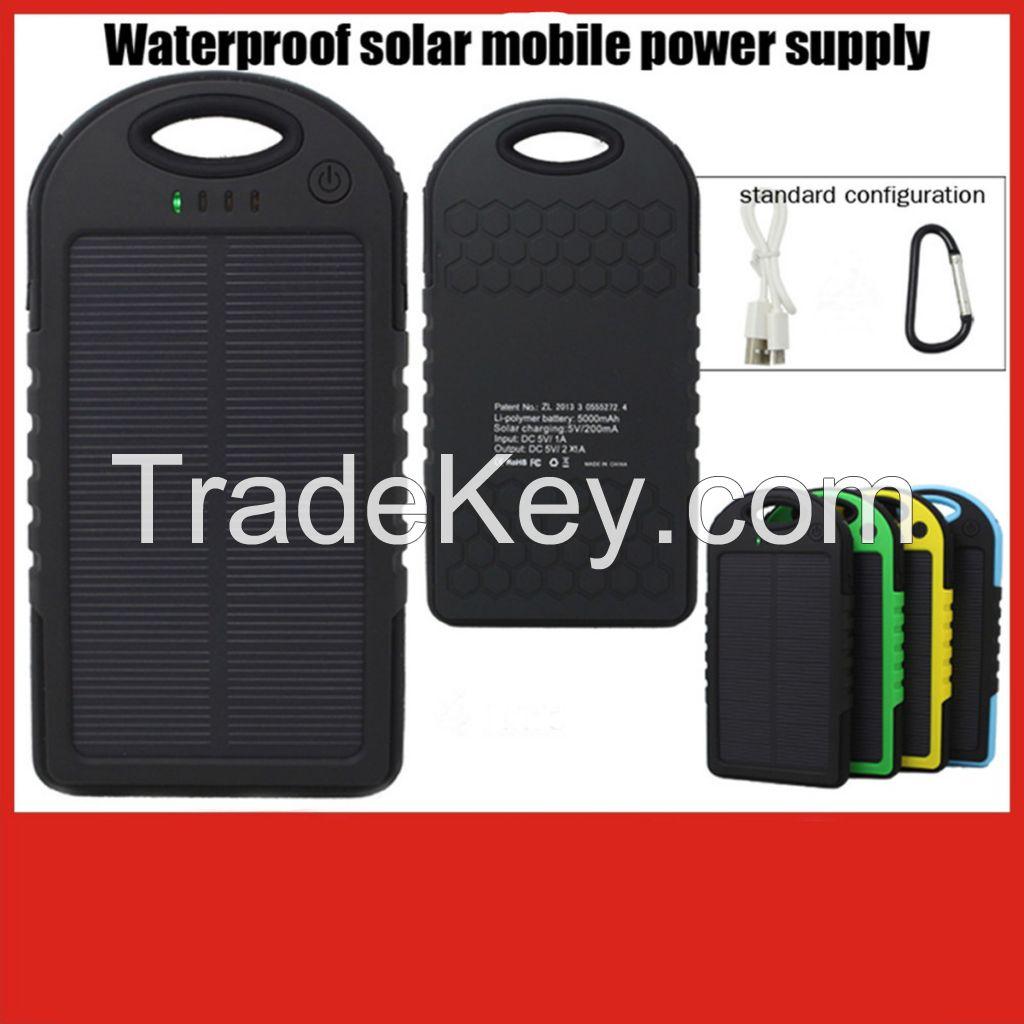 5000mah waterproof solar power bank
