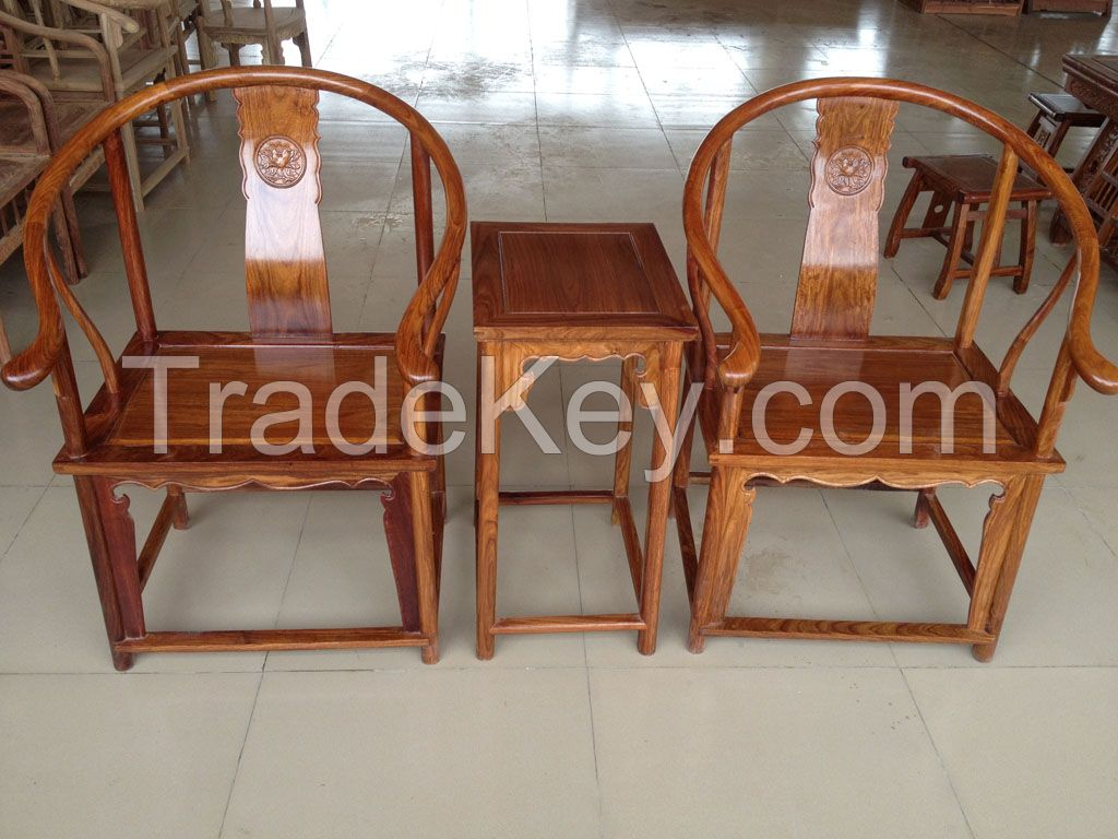 100% rosewood 3 sets room antique chairs