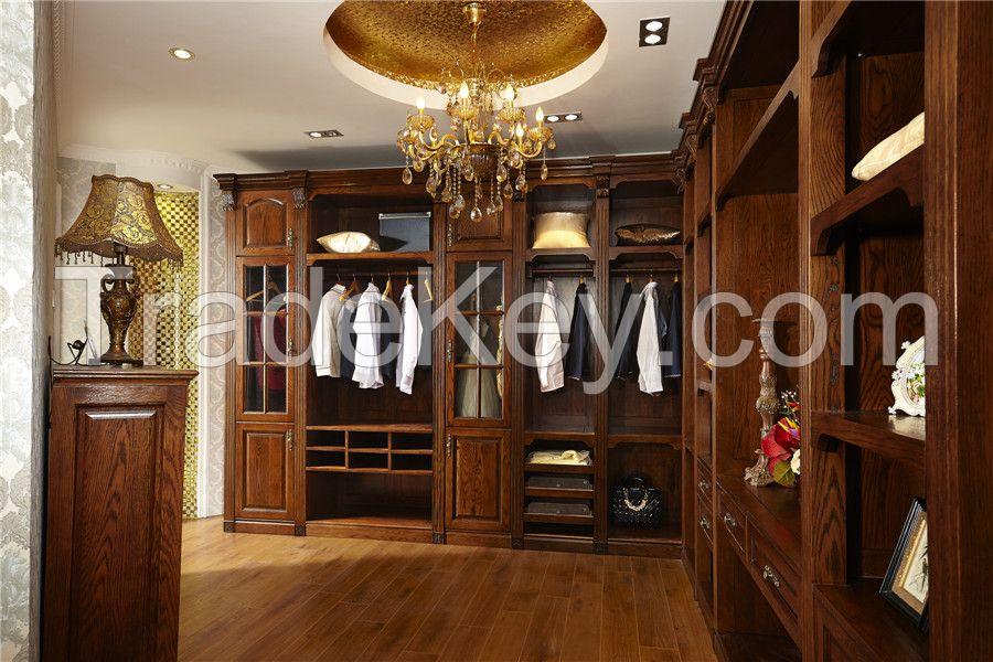 white ash wood wardrobe customize-design for you