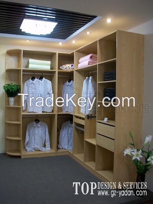E1 grade MDF with melamine walk-in closet