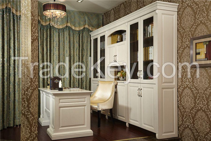 modern style L shape bookcase