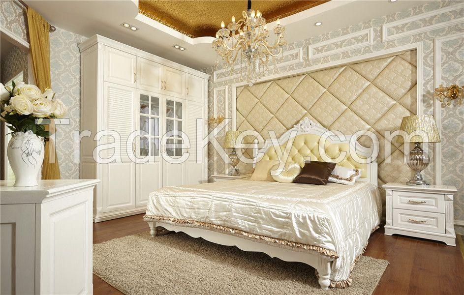 bed, wardrobe, nightstand home furniture