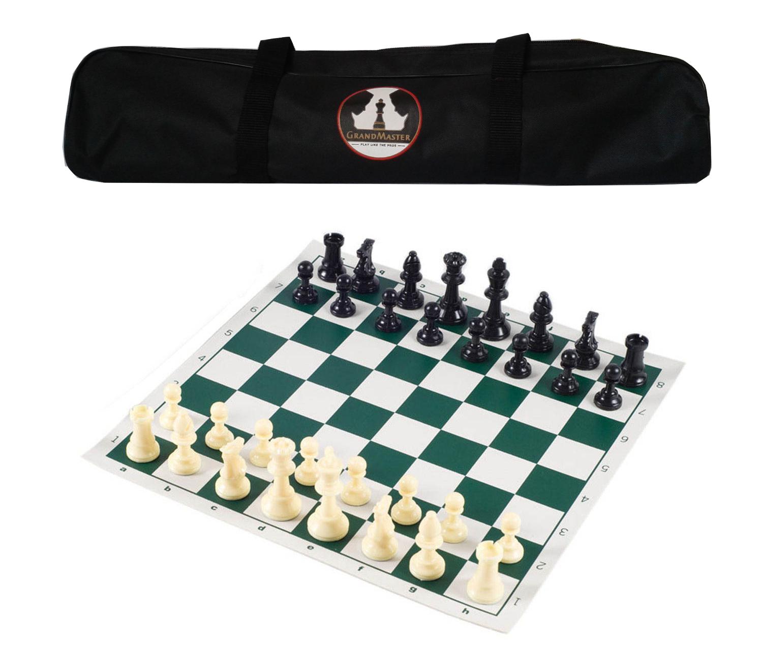 GrandMaster Chess Set Tournament Portable