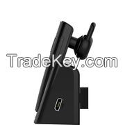 Bluetooth Headset with Car Charging Cradle/Bluetooth 4.0Auto-Answer Calls/CE/FCC/UL/RoHS Approval