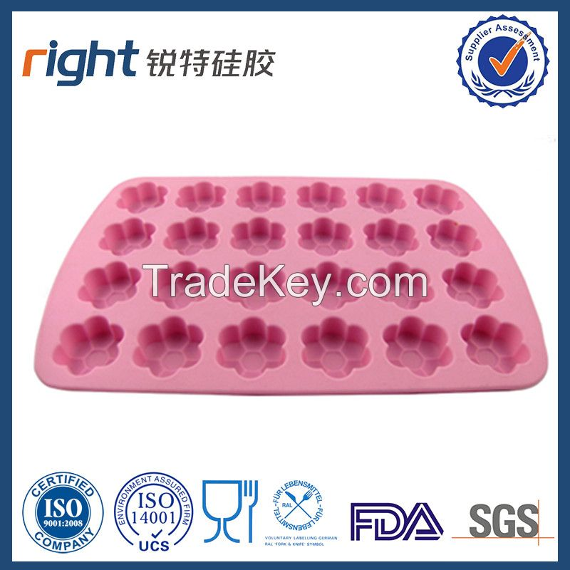 Dongguan Right silicone/24 cavities Silicone ice cube tray