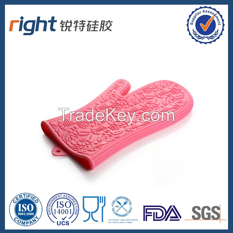 Dongguan Right silicone/silicone oven glove with lobster shape