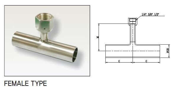 Tube Fitting, Joint-Tee