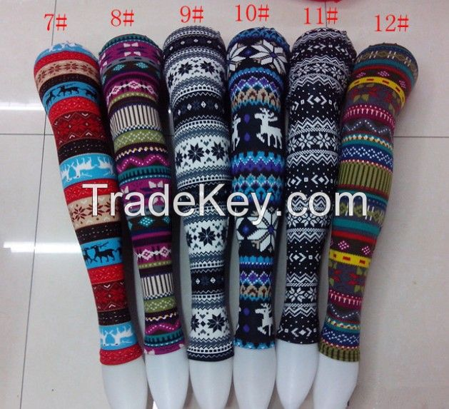 women christmas leggings snow deer tights leggings retail and wholesale