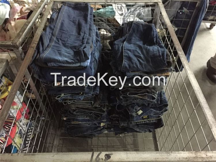Factory Wholesale Used clothes/Second Hand Jeans/Used Short Pant/3/4 pants/Cargo pants