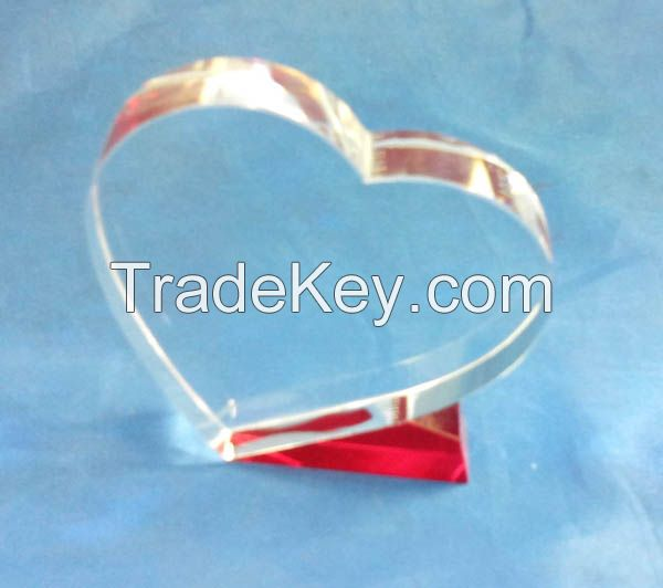 CHINA k9 blank crystal glass trophy award for business gifts
