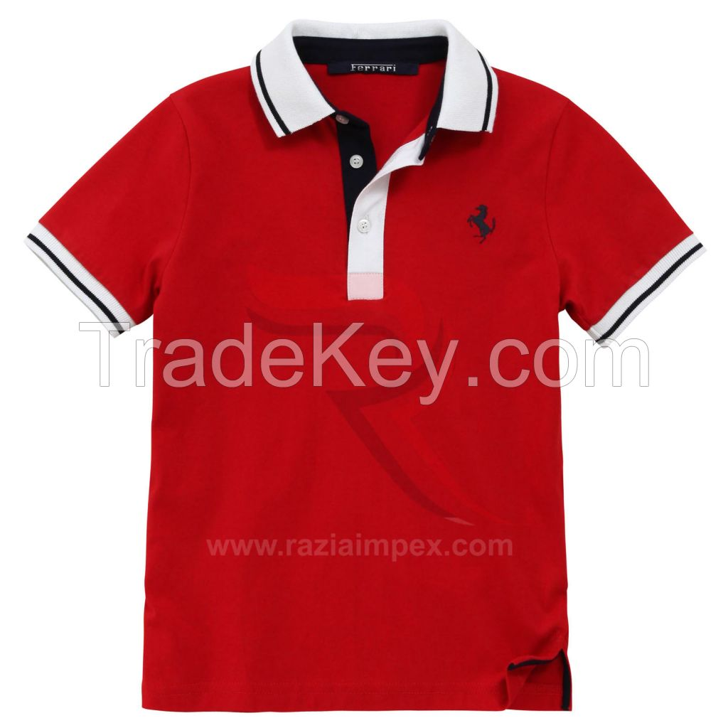 100% cotton High Quality Customized Logo Printed polo shirt