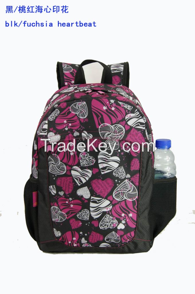 New fashion print student laptop backpack