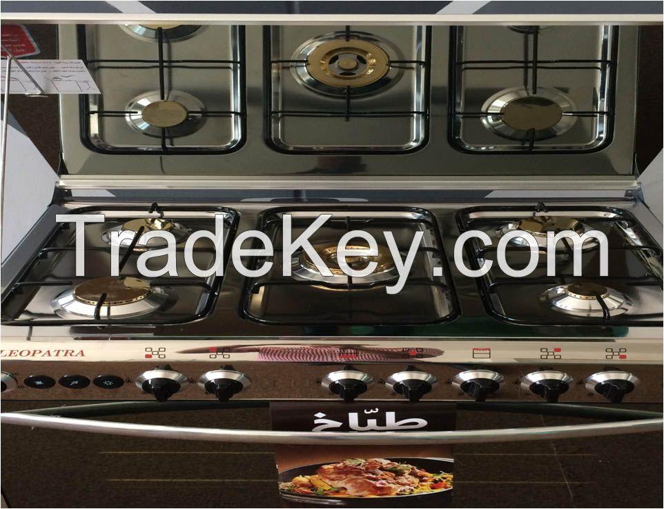Stainless steel 5 burner gas cooker