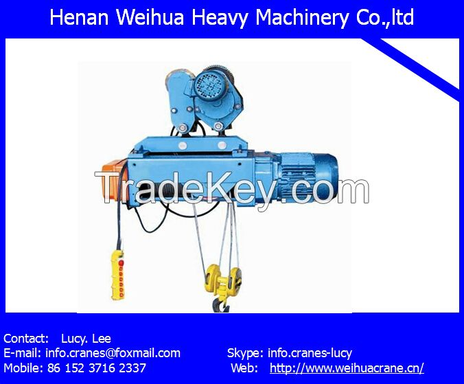 Well known brand Electric Hoist from HENAN WEIHUA