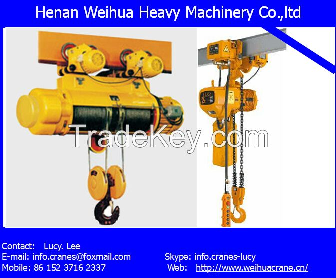 High performance Electric chain Hoist from HENAN WEIHUA