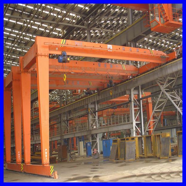 20 Ton Semi Gantry Crane With Electric Hoist  Double
