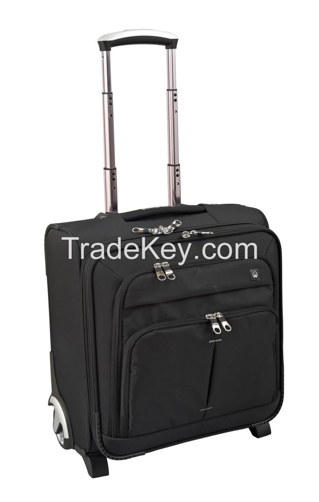 high quality nylon/polyester material wheeled briefcase