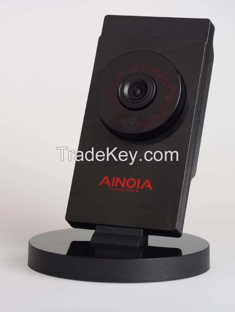 Cube IP Camera AI-903 1MP high definition video captures every detail;Remote Control with Mobile/PC;Easy install with WIFI connection;Support Two-Way Conversation;Send alarm messages at the first time;Support up to 32GB TF card.