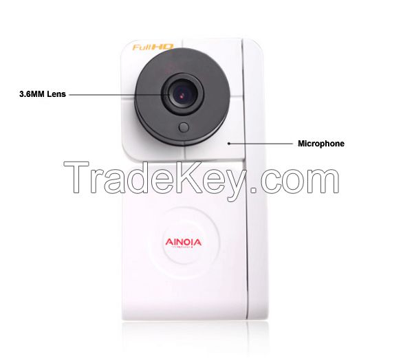 Cube IP Camera AI-902 1MP high definition video captures every detail;Remote Control with Mobile/PC;Easy install with WIFI connection;Support Two-Way Conversation;Send alarm messages at the first time;Support up to 32GB TF card.