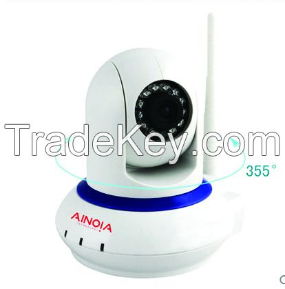 Dome IP Camera AI-801 1MP high definition video captures every detail;Remote Control with Mobile/PC;Easy install with WIFI connection;Support Two-Way Conversation;Send alarm messages at the first time;Support up to 32GB TF card.