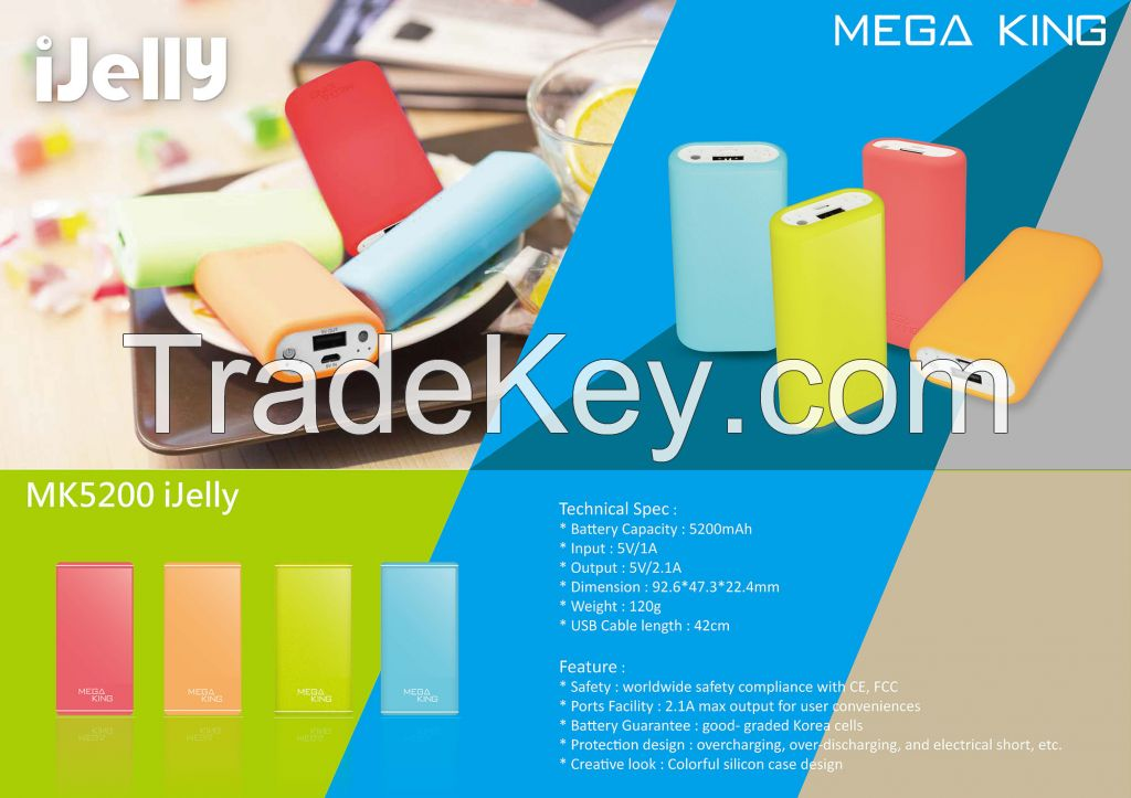 MK5200 Ijelly 5200mAh Power Bank