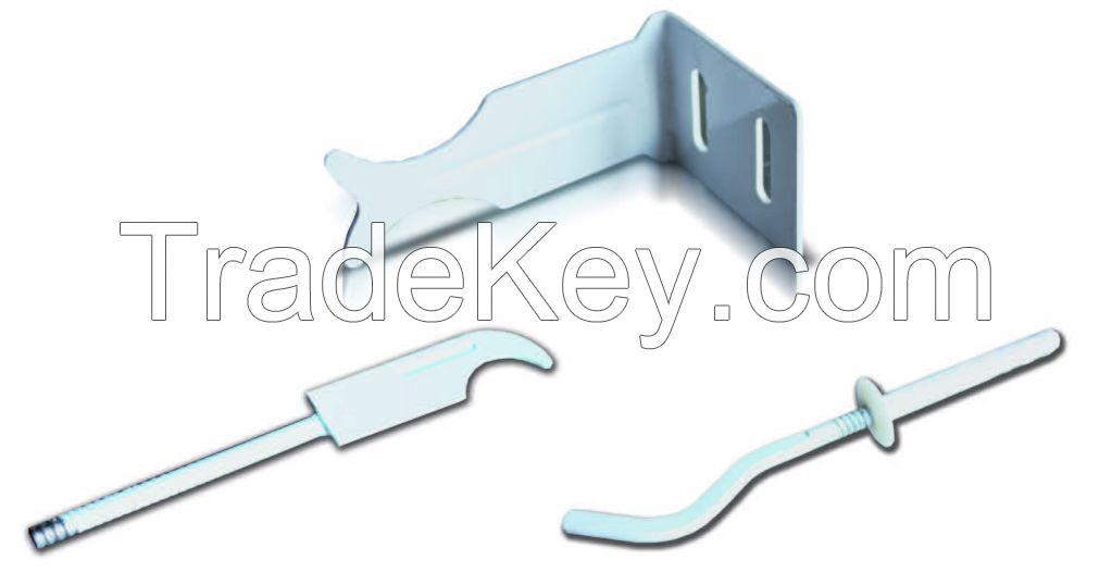 Brackets for aluminum and bimetallic heating radiators fixture
