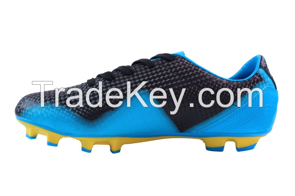 Just Play Cleats Black/Blue/Yellow Laser