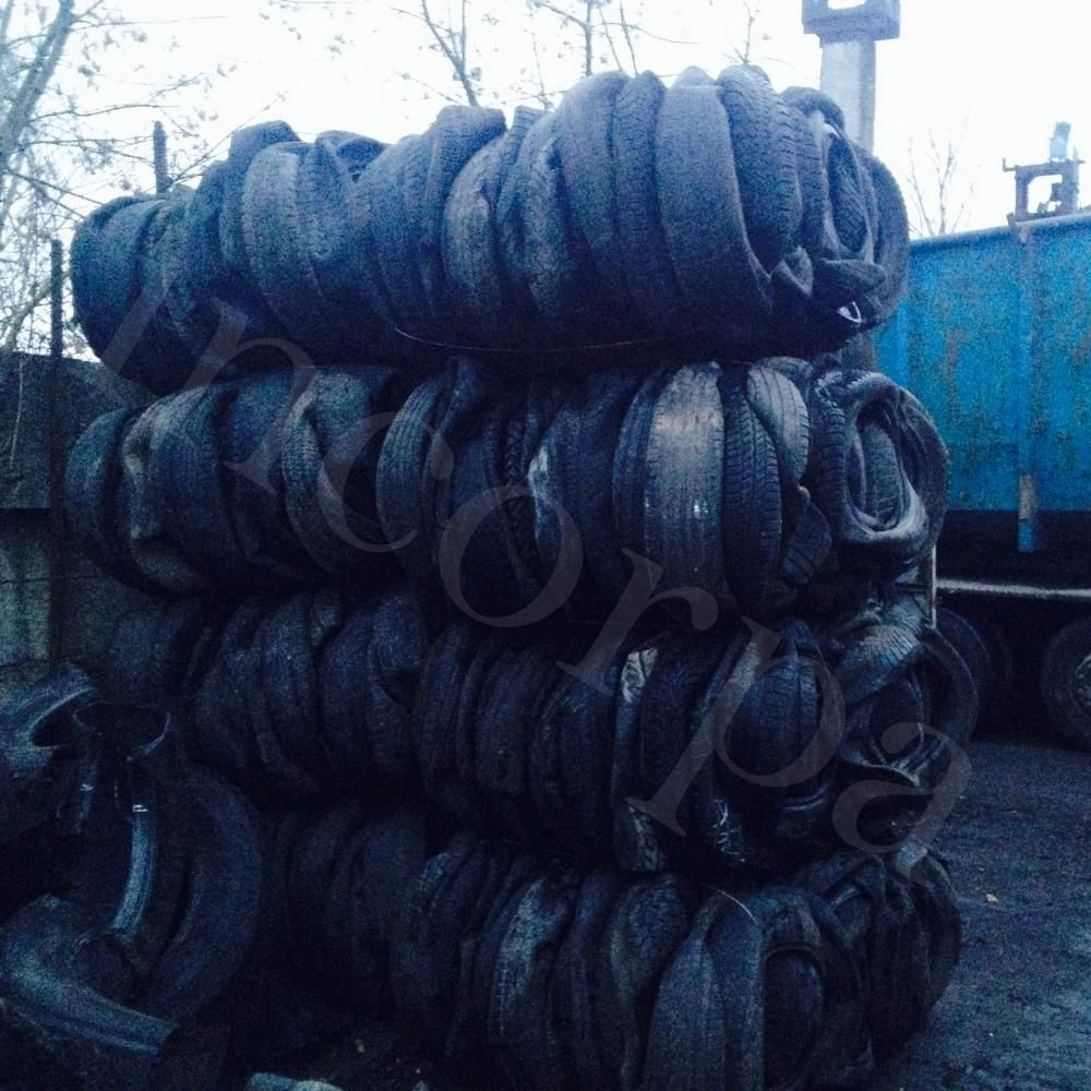 Baled used tires scrap