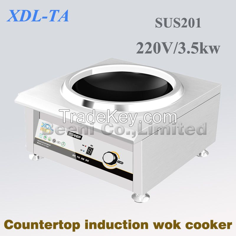 380v 3500w hot sale wok type concave commercial induction cooker