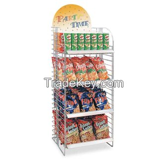 Metal snacks display stand